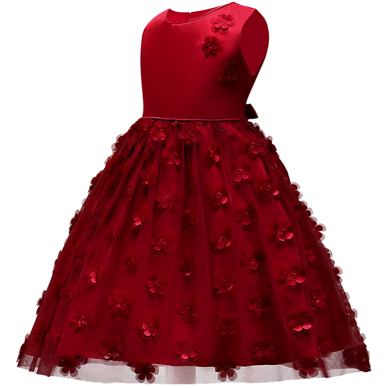 Children's Christmas Dresses For Girls Wedding Party Baby Girl Princess Birthday Dress 1-8 years Girl Clothing baby girl pageant wedding dresses infant princess girls birthday party dress christening kids frock designs for 2 4 6 8 10 years