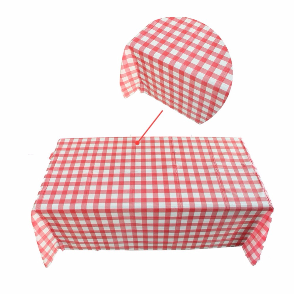 Home Red Striped Tablecloth Cotton Linen Dinner Stripe Table Cloth Macrame  Decoration Lacy Table Cover Classic