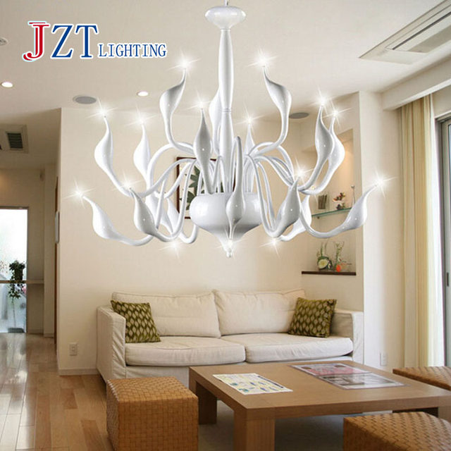 Online shop zyy modern chandelier large white swan chandelier lamp zyy modern chandelier large white swan chandelier lamp black light fixture pendant chandelier light free shipping mozeypictures Images