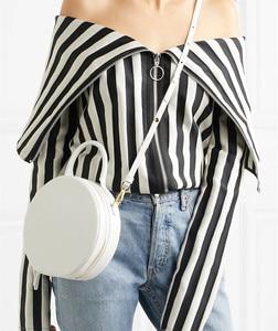Image 1 - Женская круглая сумка мессенджер, брендовая элегантная сумка из искусственной кожи высокого качества, 2019