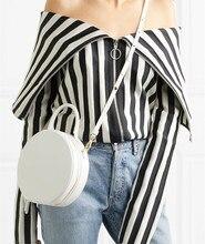 Marca chique redondo bolsas femininas 2019 de alta qualidade couro do plutônio bolsa feminina redonda bonito menina mensageiro bolsa ombro sac bolsa fêmea