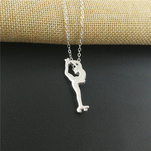 Image 3 - Hot Wholesale Fashion Pendant Women Figure Skating Necklace Women Roller Skates Necklace Choker Jewelry Charm Custom Gift