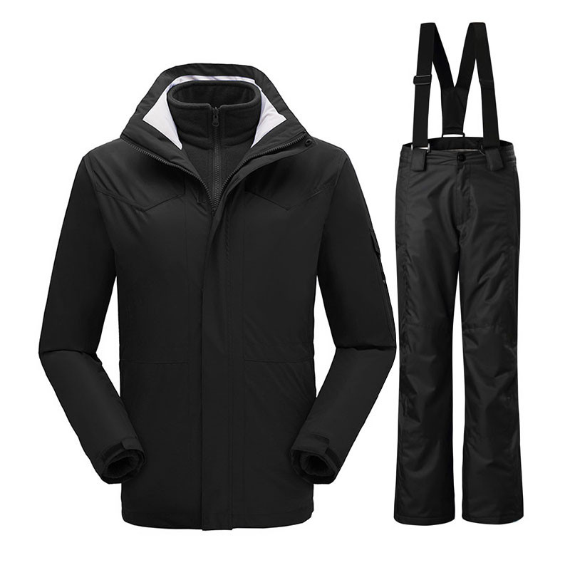2017 New Winter Ski Suit Outdoor Thermal Waterproof Windproof Snowboard Jackets Pants Mountain Skiing for Men Clothes Set Brand saenshing new winter ski suit men outdoor ski jacket thermal waterproof windproof snowboard jackets pants snow skiing clothes