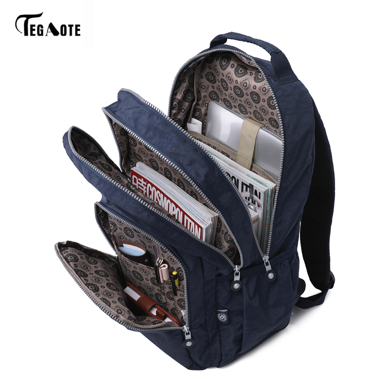TEGAOTE Classic School Bags for Girls Backpack Mochilas Escolares Women School  Backpack Laptop Travel Knapsack Boys Bags-in Backpacks from Luggage   Bags  on ... 5dda8eb6a0212