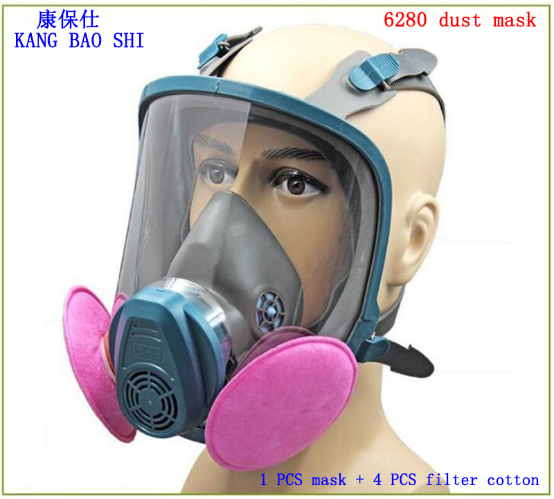 6280 respirator dust mask high quality Brand Big vision respirator face mask Dust smoke painting full face respirator high quality airsoft mask pc the lens used for cs welding polishing dust the face protect mask splash proof material safety mask