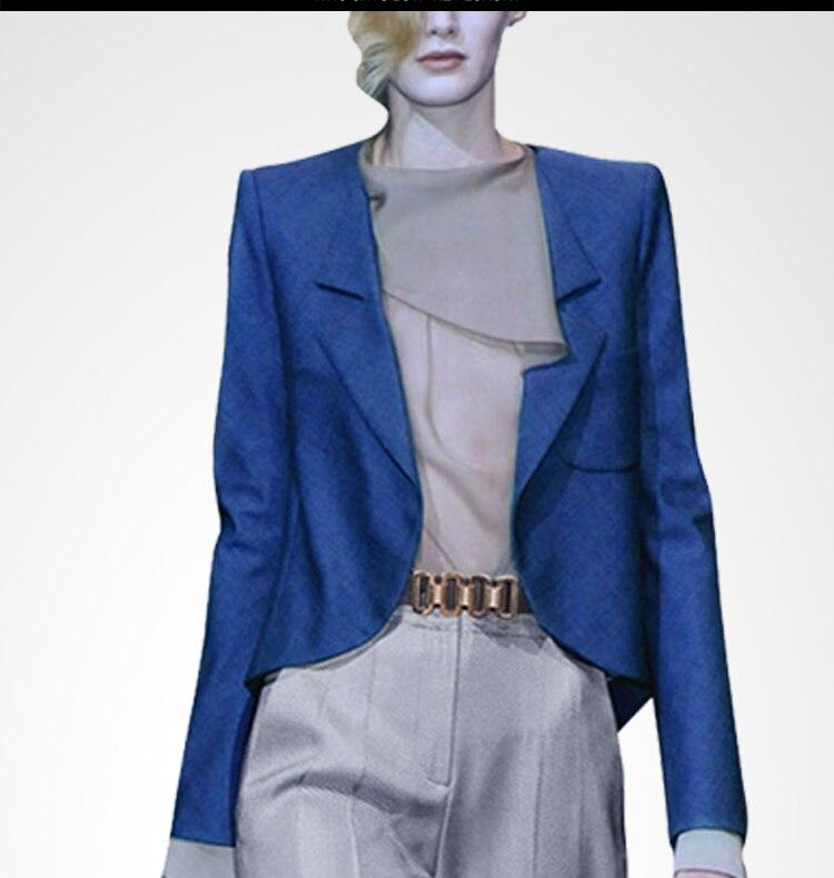 2018 Tournent Bleu Manches Automne Femelle Vers Pantalon Élégant Mode Et Costumes Nouveau Bas Blazer Pleine Le Longues Costume C2420 Mince Lengthpant Femmes PXZOkuTwi