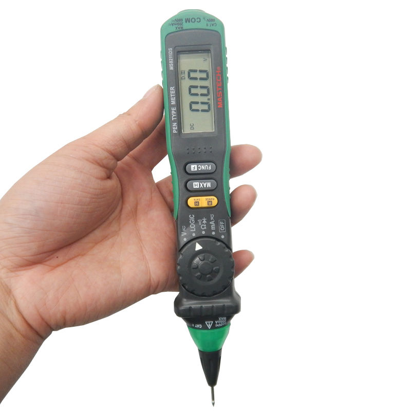 Mastech MS8211DS Digital Multimeter Pen Type Auto Range LCD Display DMM Voltage Tester Meter Logic Level Test Diagnostic-tool mastech ms8211d pen type digital multimeter manual auto range
