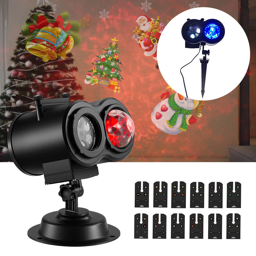 Projector Light Ripple Ocean Light with 12 Slides Pattern Waterproof for Christmas Halloween Party CLH@8Projector Light Ripple Ocean Light with 12 Slides Pattern Waterproof for Christmas Halloween Party CLH@8