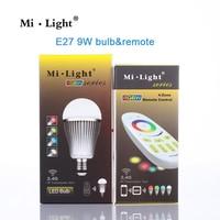 Mi Light LED Bulb AC 110V 220V GU10 E14 E27 Lamp 2 4G Wireless Wifi Control