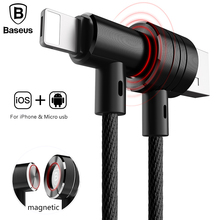 Baseus 2in1 Type Magnet Cable Side Insert For iPhone+Android
