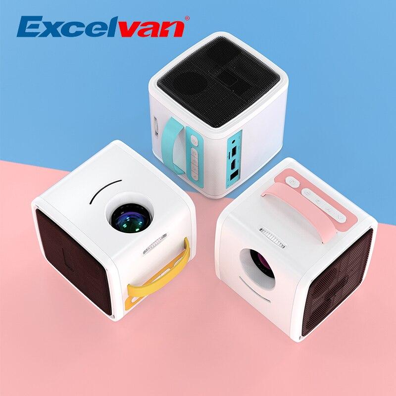 Excelvan q2 mini projetor 700 lumens crianças educação presente dos pais-filho projetor portátil mini led tv casa beamer