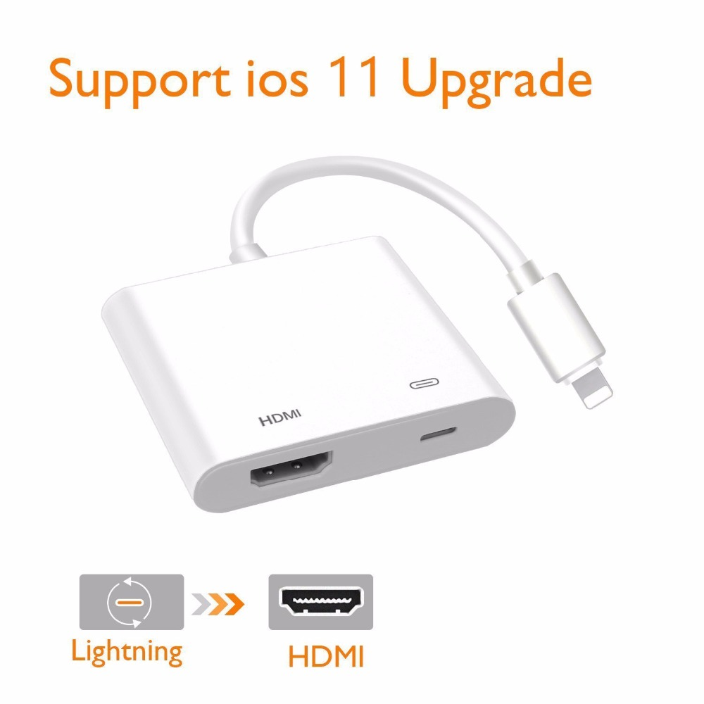 US For Apple Iphone 6 7 8 X Ipad Lightning to HDMI Digital AV TV Adapter Cable