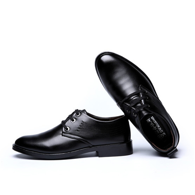 luxury Business Men Dress Shoes Vintage Brogue Oxford Shoes Fashion PU Leather Buckle Strap Shoes Wedding Formal casual shoes in Formal Shoes from Shoes