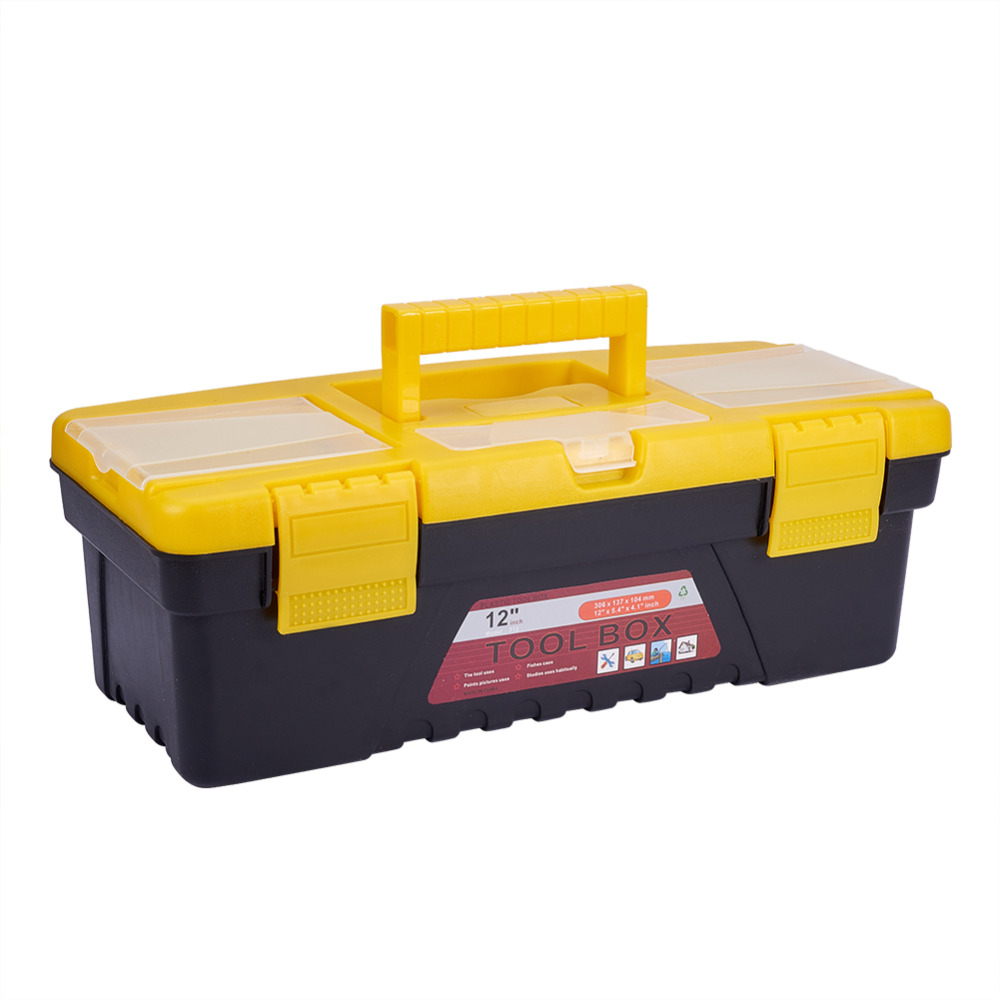 Plastic Tool Box Multifunction Car Storage Organizer Portable Kit Set Protecting Accessories For Automobile