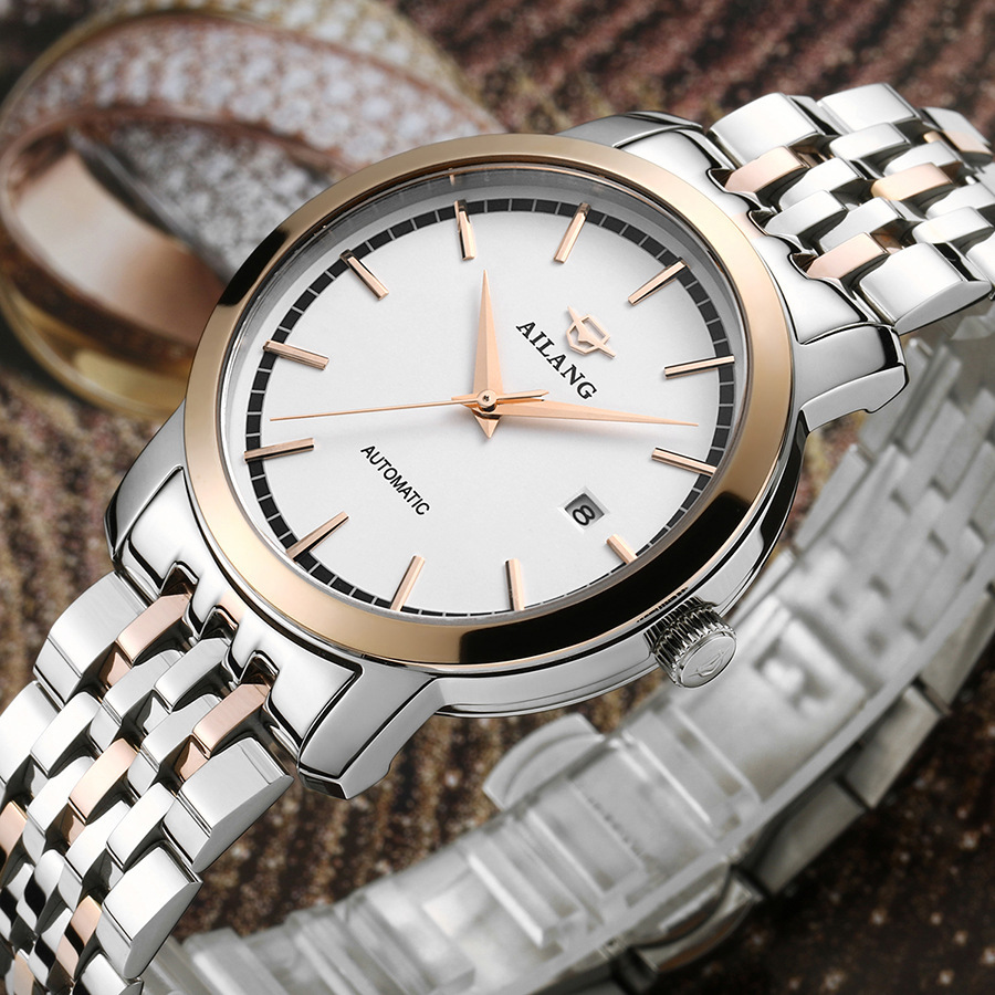 Brand AILANG Elegant Fashion Men Business Dress Watches 316L Automatic Statement Wrist watch Calendar Analog Relojes 3bar NW3303Brand AILANG Elegant Fashion Men Business Dress Watches 316L Automatic Statement Wrist watch Calendar Analog Relojes 3bar NW3303