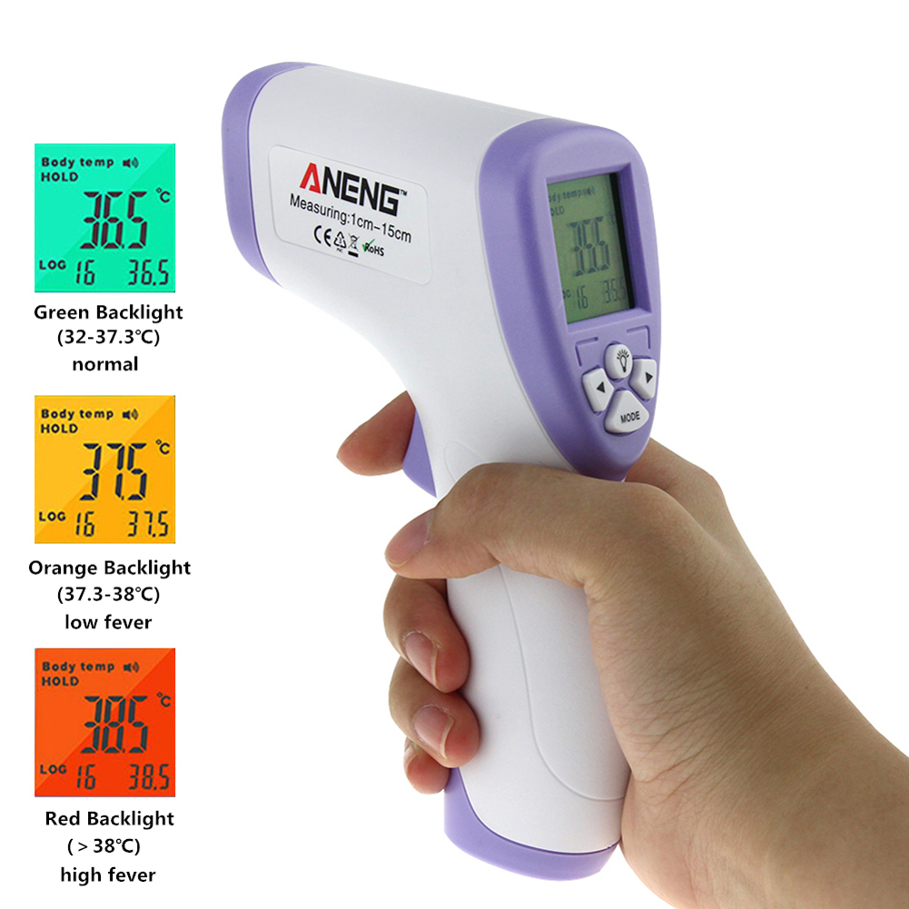купить Handheld Digital Infrared Thermometer Non-contact IR Infrared Thermometer Baby Forehead Body Surface Temperature Measurement Gun по цене 518.88 рублей