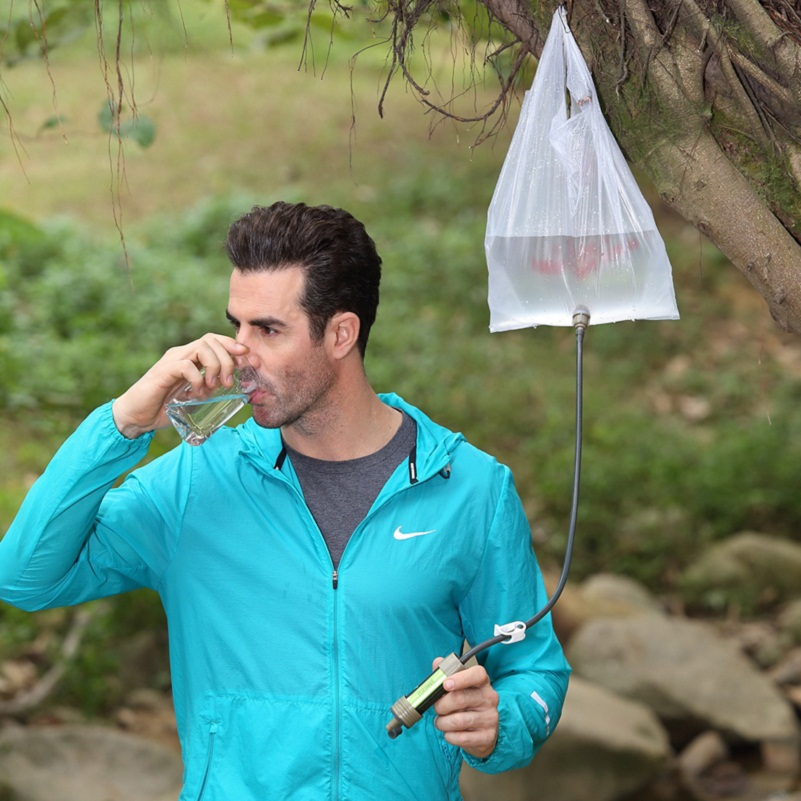Lightweight outdoor water filter great for camping backpacking hiking