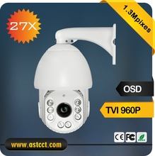 Low Cost 1.3 Mpixes TVI IR High Speed Dome Camera 27x zoom Night Vision PTZ Camera with 720P TVI Output