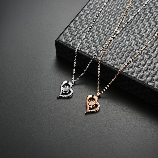 Фото женское ожерелье с кулоном i love you украшение на день рождения цена
