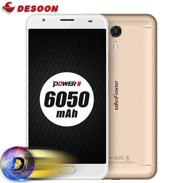 2017 Ulefone Power 2 6050mAh 5.5 inch FHD Smartphone MTK6750T Octa Core Front Fingerprint 4GB+64GB 13MP Full metal Mobile Phone