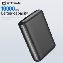 цены на CAFELE 10000mAh Power Bank Portable Charging Mobile Phone Powerbank Dual USB External Battery Poverbank For iPhone Samsung  в интернет-магазинах