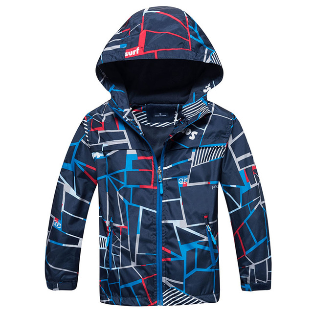 Waterproof Hooded Jackets for Boys with Various Designs