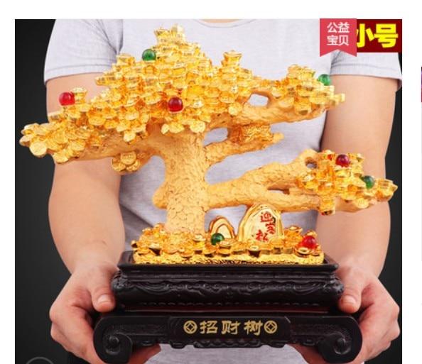 Faire de l'argent faire de l'argent or arbre argent vache artisanat salon boutique registre ornement tigre chanceux ouverture arts plaqué or
