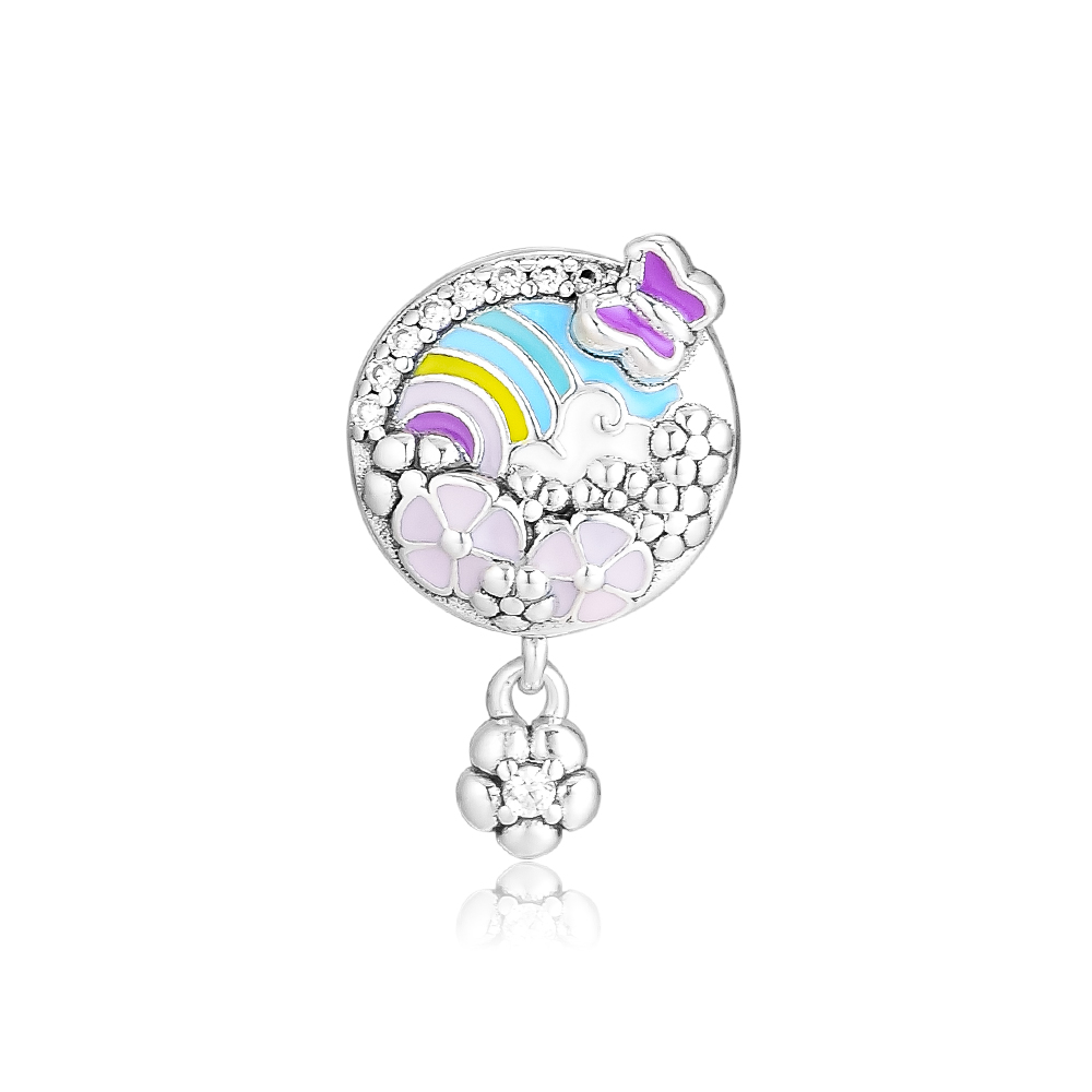 Fine Jewelry Ckk Flower Colour Story Beads Charms 925 Sterling Silver For Jewelry Making Fits Pandora Bracelet Charm Bead Kralen Berloque Chills And Pains Beads