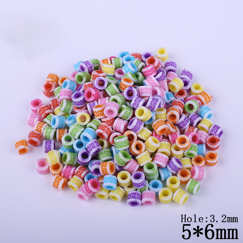 Latest 400pcs DIY Plastic Acrylic Bead for Jewelry Making Decoration for Kids Toys Accessories Beads Beading Charming Necklaces