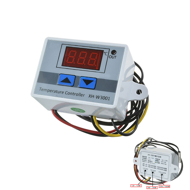W3001 Temperature Controller Digital LED AC 220V DC 12V/24V Thermometer Thermo Controller Switch Probe Max 10A 220v 12v 24v digital led temperature controller thermostat switch probe sens y103 page 10