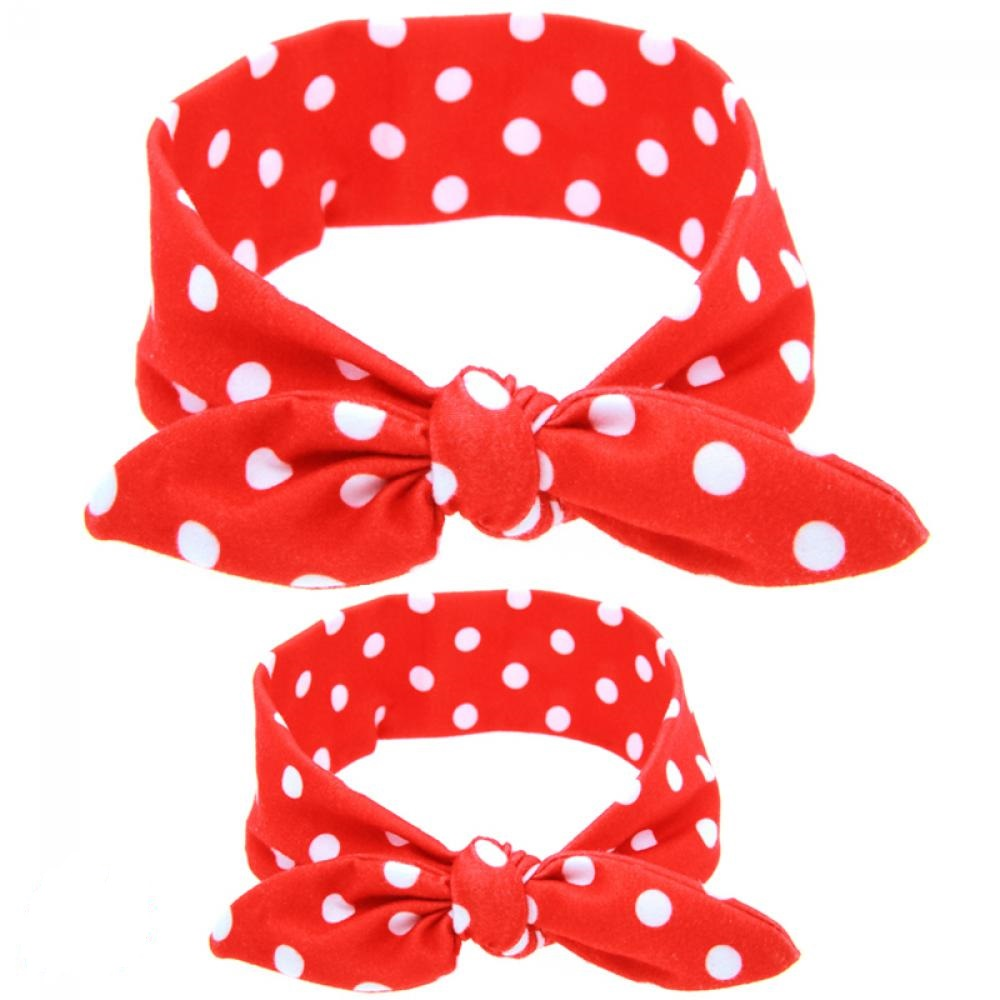Hot Sale!!DIY Lovely Mama & Kids DIY Floral Rabbit Ears Headband Bow Hairband Knot Soft Cotton Head Wrap Hair Accessories