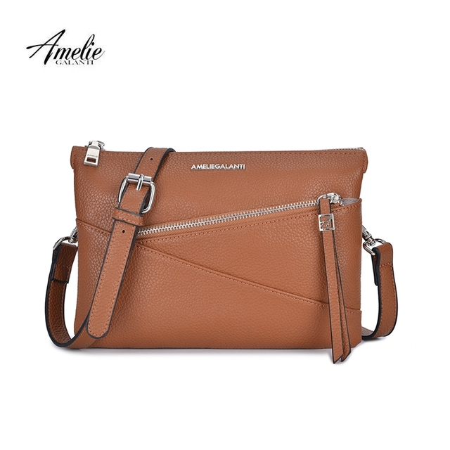 AMELIE GALANTI Women s Messenger Bags with Two Compartment Female Shoulder    Crossbody Bags Handbag Pockets with 7a55be649f6a1