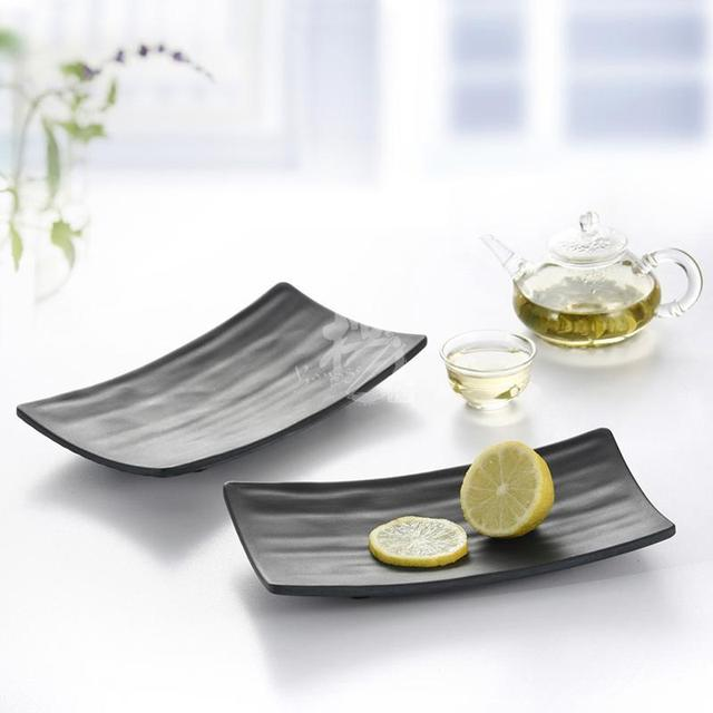8.5  European imitation porcelain black plastic melamine Veggie beefsteak dinner cake sushi plate dishes restaurant  sc 1 st  AliExpress.com : restaurant supplies dinnerware - pezcame.com
