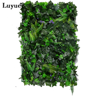 Luyue 10 PCS Artificial Flower Plants Grape Green Leaves Wedding Decoration Garden Flowers 40cm 60cm Decorative