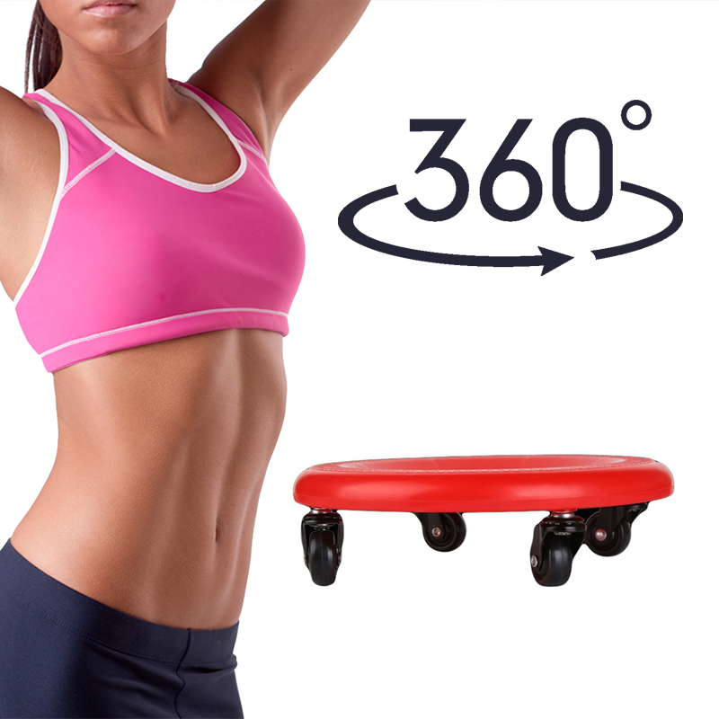 4 Wheels Power Fitness Equipment Abdominal Roller Training Drawing Home Sports Disc Gym With Knee Pad