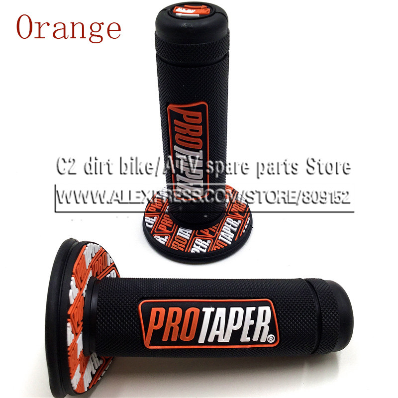 NEW Orange Handle Grip Pro taper Motorcycle High Quality Protaper Dirt Pit Bike Motocross 7 8 Handlebar Hand Grips KTM