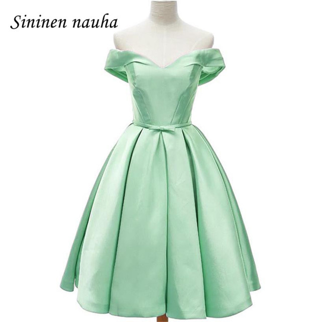Short Bridesmaid Dresses Vestido Longo Juniors Wedding Off The