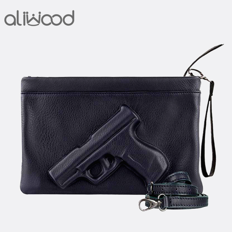 3D Print Gun Pistol Bag Brand Women Bag Chain Messenger Bags Designer Clutch Purse Ladies Envelope Clutches Crossbody Bag Bolsas