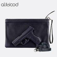 3D принт пистолет сумка бренд Для женщин мешок цепи Курьерские сумки дизайнер кошелек сцепления дамы конверт клатчи Кроссбоди мешок Bolsas