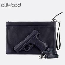 3D Print Gun Pistol Bag Brand Women Bag Chain Messenger