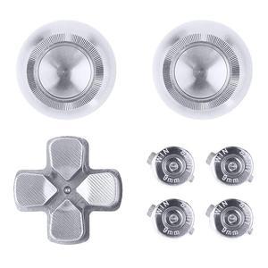 Image 2 - Metalowe nakładki na przyciski do kontrolera PS4 aluminiowe zamienniki ABXY Bullet przyciski chromowane d pad do Sony Playstation 4