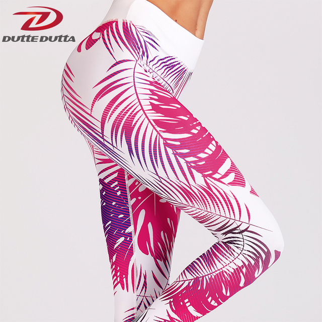 69f9fc5e20365d Print Yoga Pants Tight Women Workout Leggings Floral Fitness High Waist  Elastic Red Slim Girls Sport