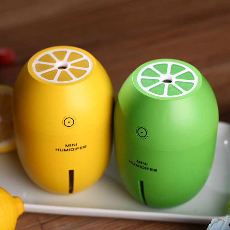 Image 5 - Creative Lemon Humidifier Mini USB Desktop Diffuser Air Humidifier Led Light Mist Maker For Home Office Car Gifts 4 ColorsHumidifiers   -