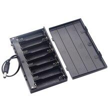DIY 12V 8 x AA Batterie Halter Fall Box Mit Führt Schalter Diy Power Bank Batterie Halter Hohe Qualität