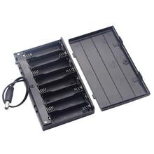 Diy 12v 8 x aa caixa de suporte de bateria, com interruptor de pontas, diy, suporte de bateria de alta qualidade