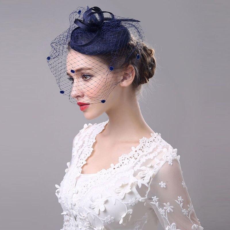 Vintage New Black Wedding Veils Tulle Bird Cage Short