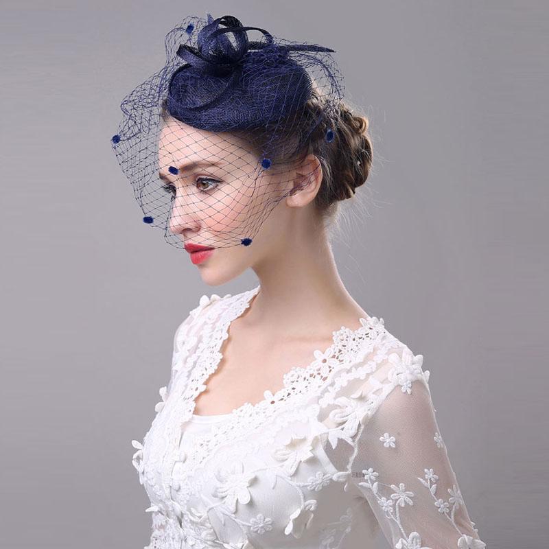 Cool Popular Wedding Veil Hats Buy Cheap Wedding Veil Hats Lots From Short Hairstyles Gunalazisus