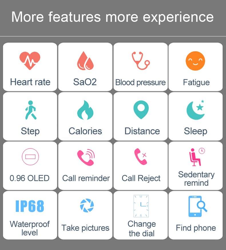 Smart Bracelet Movement Pedometer Fitness Heart Rate Bluetooth