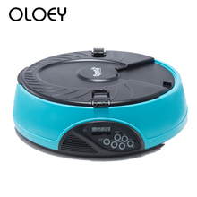 New Design Automatic Pet Feeder Set Feeding Time with LCD Digital 6 Meal Dog Cat Recorder Timer Bowl Dispenser Hot