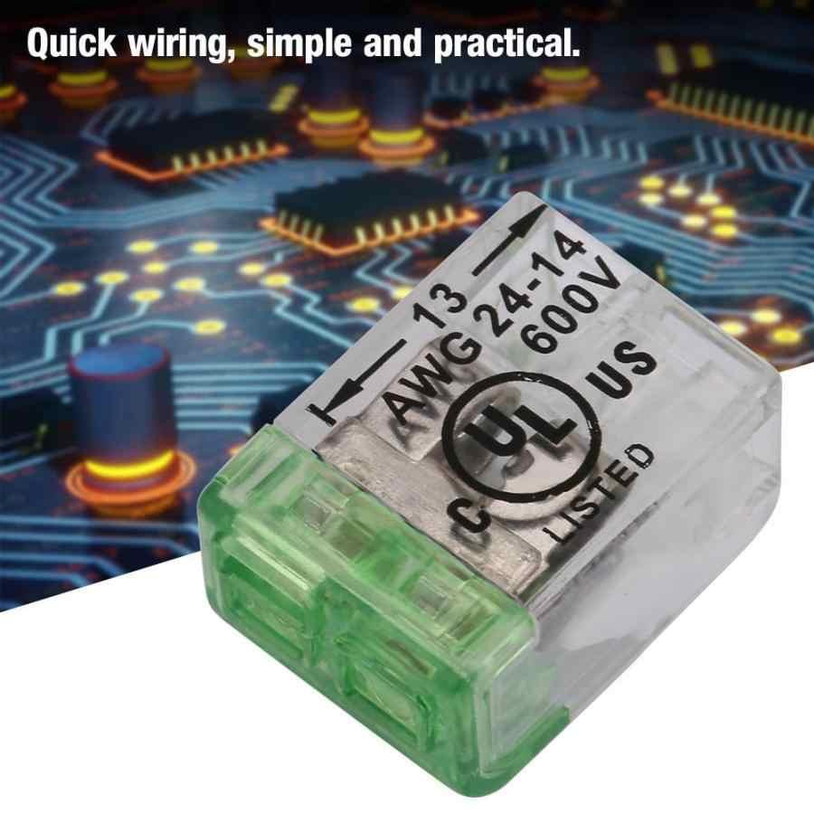 10 sztuk AWG24-14 przewód kompaktowy szybkie okablowanie złącza Push-in kabel blok zacisków złącze przewodu